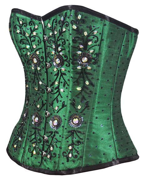 beaded corset authentic steel boned 100 silk beaded exclusive