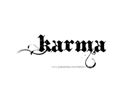karma tattoo ideas karma name designs karma designs and