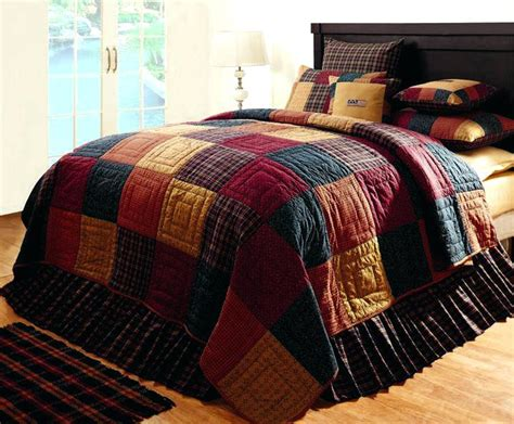 Country Quilt Bedding Sets Country Patchwork Quilted Bedspread Set Oversize King To The Floor Esprit Spice Quilt Set