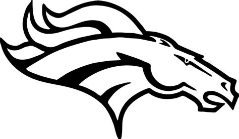 nfl symbols coloring pages nfl coloring pages denver broncos logo coloringstar