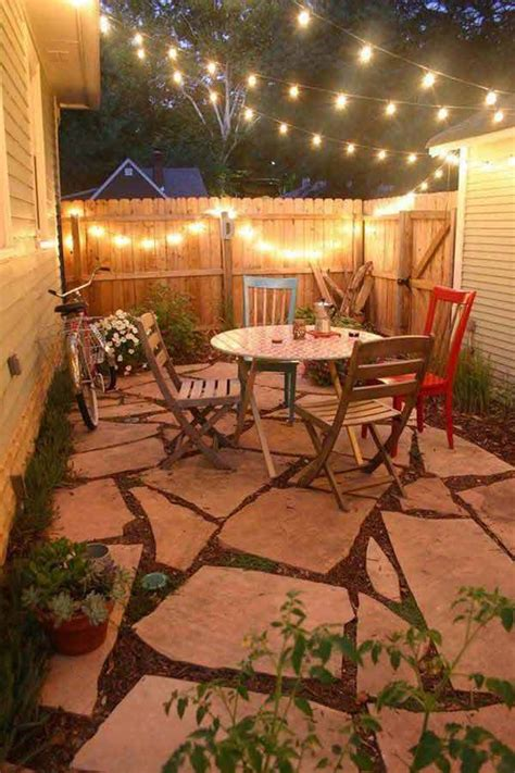Backyard Lighting Ideas Pinterest 23 Small Backyard Ideas How To Make Them Look Spacious And Cozy Amazing Diy Interior Home