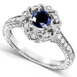 Engagement Ring by 1 Carat Antique Sapphire And Diamond Engagement Ring
