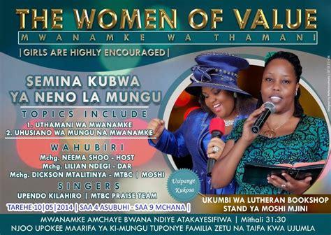 Shoo Rejoice rejoice and rejoice kongomano kubwa la mwanamke wa thamani kufanyika mjini moshi