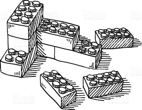drawing blocks construction blocks drawing stock vector 469181781