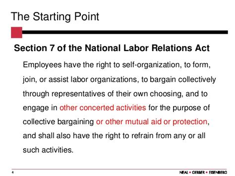 section 7 of the nlra the nlrb has lost its way what s an employer to do