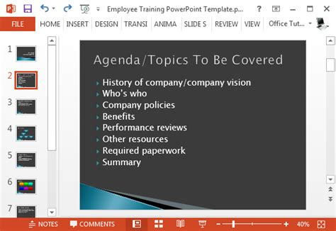 Free Employee Training Presentation Template For Powerpoint Orientation Powerpoint Presentation Template