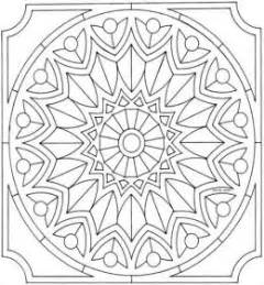 mandala pattern a2 colouring pictures print color