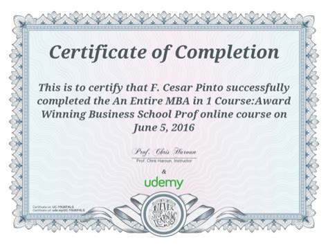 Udemy An Entire Mba In 1 Course by Cert Mba In 1 Course Udemy Univ Business School Cesar