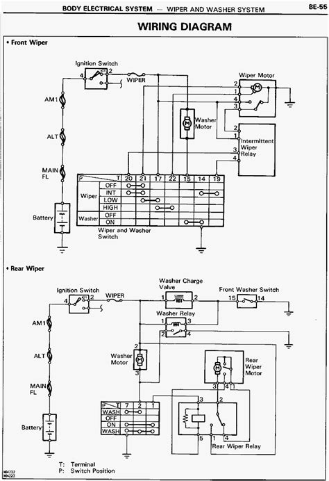 electrical wiring diagrams toyota townace toyota