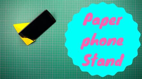 How To Make A Paper Phone Easy - how to make paper phone stand holder v4 this is a easy