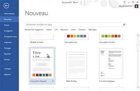 Modèle Lettre De Motivation Word 2013 Word 2013 Cr 233 Ation D Un Nouveau Document M 233 Diaforma