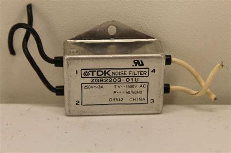 Tdk Noise Filter Zcw 2220 01 tdk zgb2203 01u noise filter plc surplus supply llc