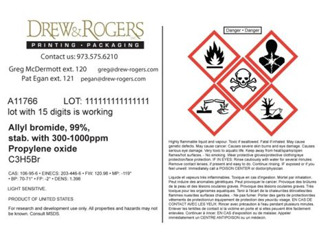 Chemical D R Labels Ghs Label Template