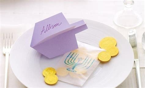 dreidel place card template five free printable hanukkah decorations for your home