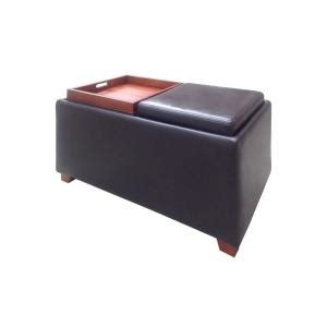 home depot storage ottoman home decorators collection brexley double storage leather