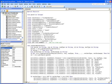 coding in visual basic for excel getting started with the tws dde for excel api webinar notes