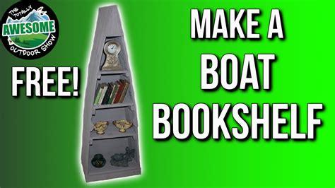 make a boat bookshelf from pallet wood ta outdoors youtube - Pallet Boat Bookshelf