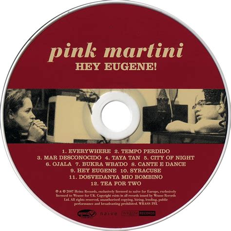 pink martini hey eugene car 225 tula cd de pink martini hey eugene portada