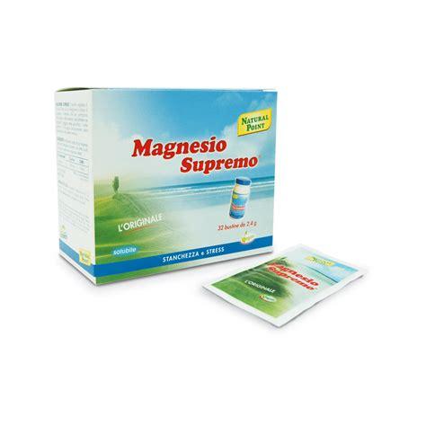 magnesio supremo magnesio supremo 32 bustine 2 4g para farmacia di