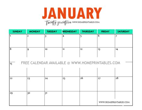 2016 calendar free printable this little street free colorful printable calendar 2016