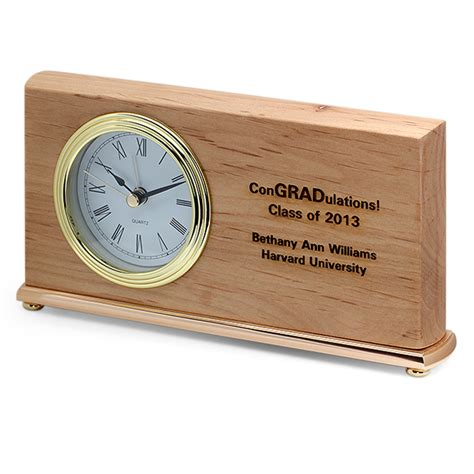 personalized congradulations desk clock clocks