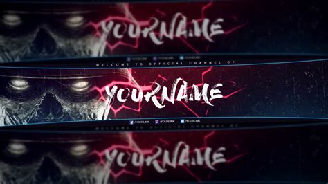 Free Gfx Free Gaming Youtube Banner 2017 Psd Template Reupload Youtube Gaming Banner Template Psd