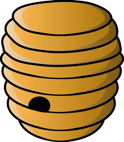 Hive Clipart beehive clip at clker vector clip royalty free domain
