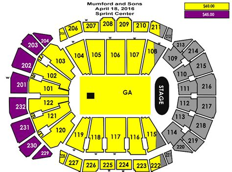 sprint center seating chart sprint center seating charts