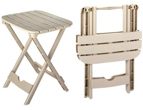 Cheap Patio Accent Tables Plastic Folding Patio End Table 2 Pc Set Fold
