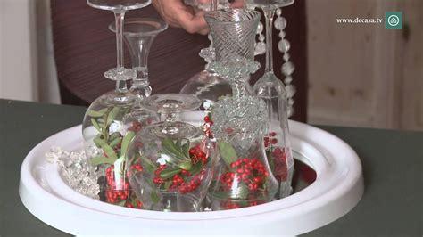 como decorar un centro de mesa de navidad centro de mesa con copas diy decoraci 243 n navidad youtube