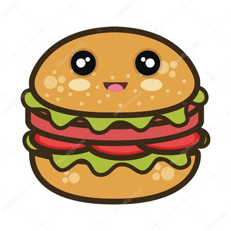 imagenes animadas kawaii kawaii dibujos animados hamburguesa comida r 225 pida