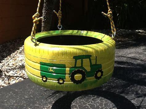 tractor tire swing john deere tractor tire swing from www cooltireswings com