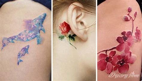 watercolor tatoo tatuaże jak malowane