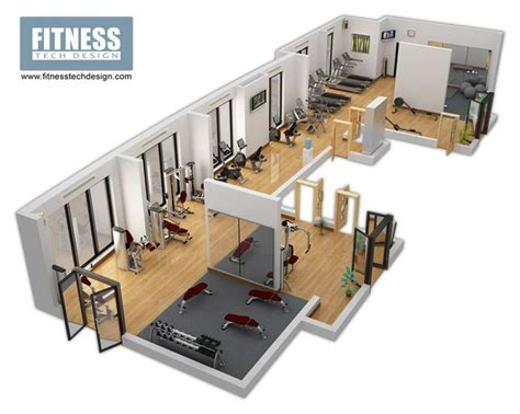 home gym design companies 3d gym design 3d fitness layout portfolio fitness tech