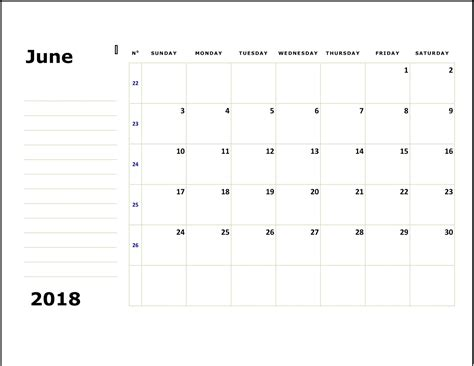 june 2018 calendar june 2018 calendar printable