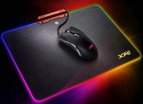 light up gaming mouse pad adata infarex rgb led gaming mouse and pad light up the