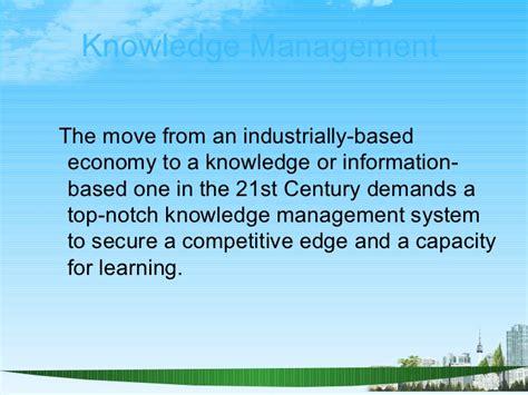 Management Information System Ppt For Mba by Knowledge Management Ppt Bec Doms Bagalkot Mba 4 Th Sem