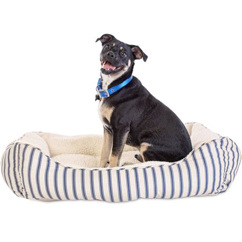 striped dog bed harmony blue striped nester dog bed petco