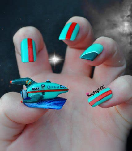 futurama nail art planet express ship by kayleighoc on