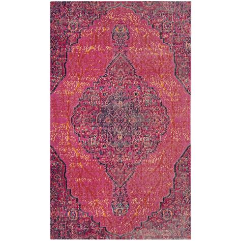 fuchsia rug safavieh artisan fuchsia multi 3 ft x 5 ft area rug atn337f 3 the home depot