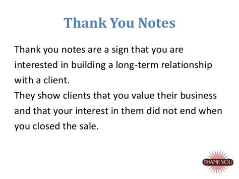 sle of thank you notes sales fundamentals by wiziq college