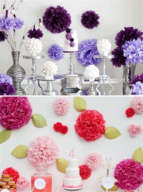 5 ideas para decorar fiestas con papel c 243 mo decorar fiestas con pompones de papel paperblog