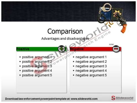 law enforcement powerpoint template slide world