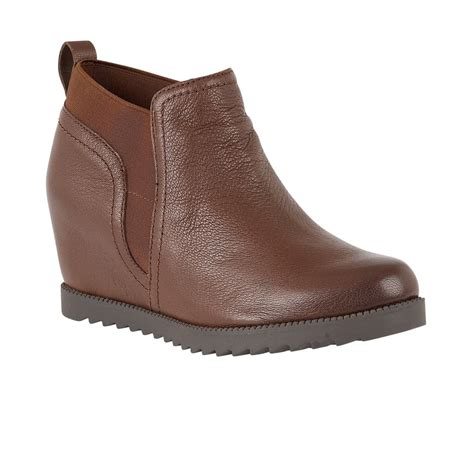 naturalizer shoes darena brown leather ankle boots boots