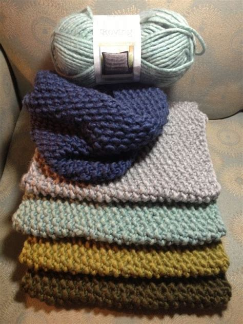 how do you knit with a circular needle one skein cowl scarves using bernat roving yarn 13
