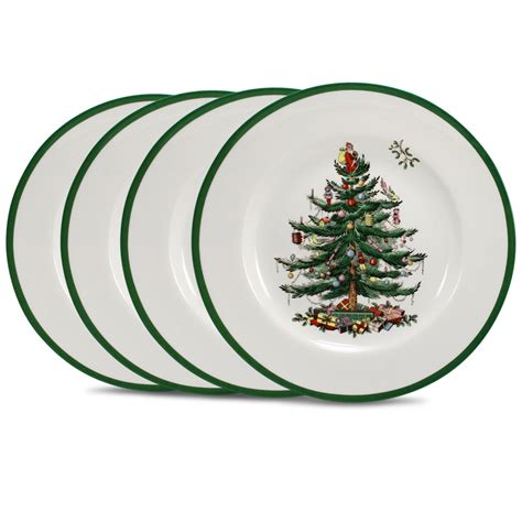 spode christmas tree dinner plate set 4pce peter s of