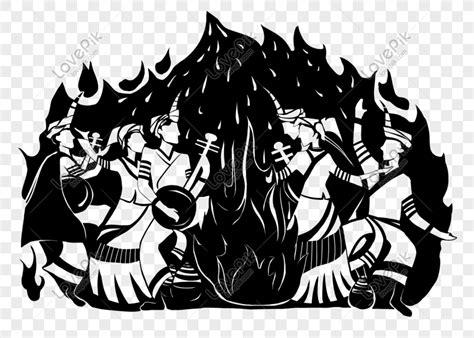 gambar api unggun kartun hitam putih miki kartun