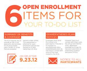6 open enrollment items for your to do list