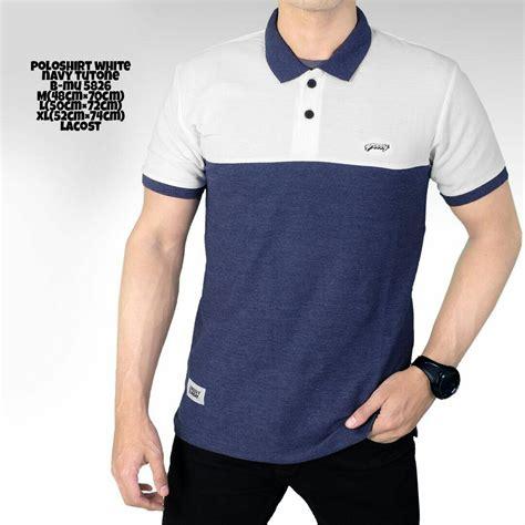 Kaos Kerah Pria Salur Garis Atasan Kaos Distro harga koleksi baju kemeja pria terbaru termurah mei 2018