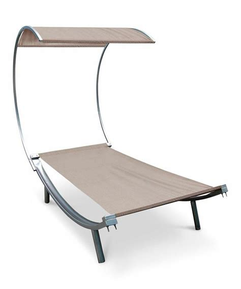 outdoor lounge bed white swoop arc outdoor lounge bed